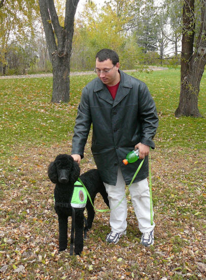 Ken Moore participated in the pilot FASD service dog adult project in 2007-2008