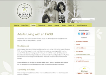 Visit MOFAS for great connections for persons interested in fetal alcohol